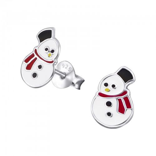 zilveren kinder oorbellen sneeuwpop