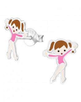 zilveren kinder oorbellen ballet danseres