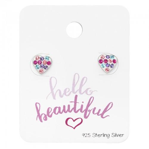 zilveren hartjes oorbellen met zirkonia's