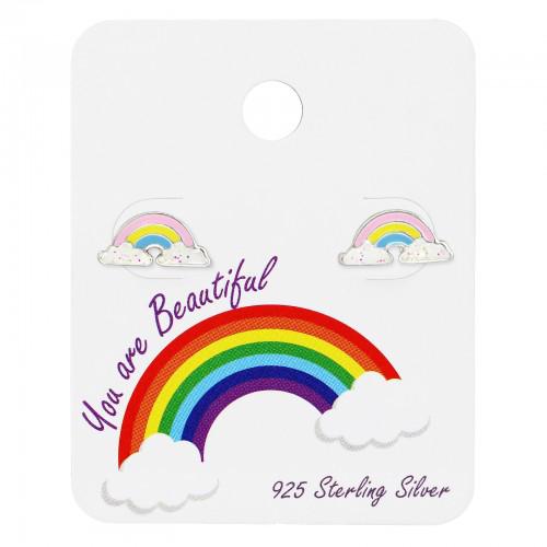 zilveren kinderoorbellen regenboog