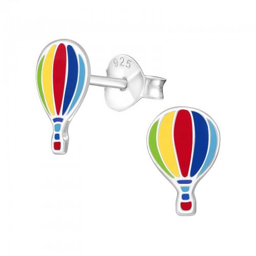 zilveren kinderoorbellen met luchtballon