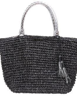 zwarte strandtas met glitters