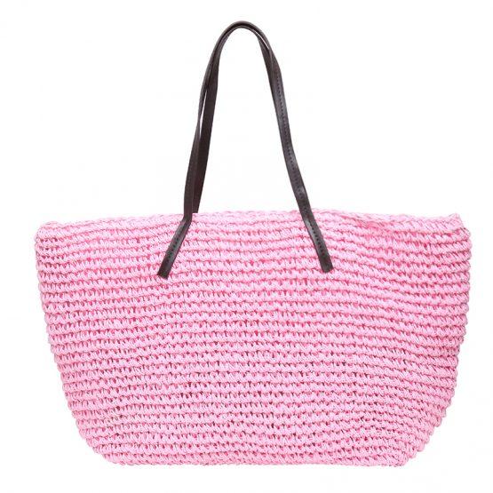 roze strandtas