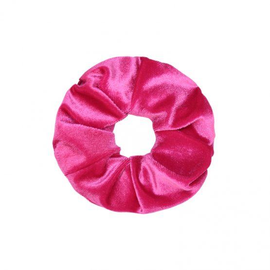 velvet scrunchie fuchsia haarelastiek