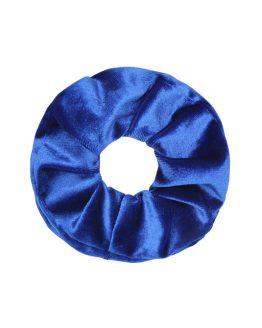 velvet scrunchie donkerblauw