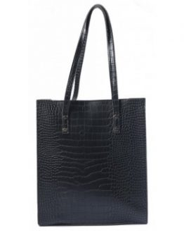 lederen shopper croco