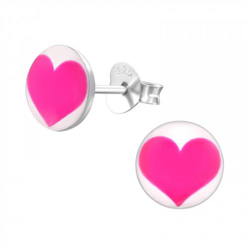 kinderoorbellen met roze hartjes