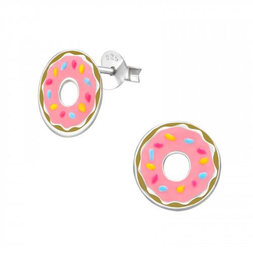 kinderoorbellen met roze donut