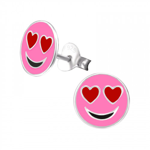 roze smiley kinderoorbellen