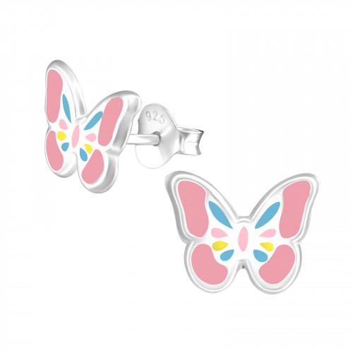 zilveren kinderoorbellen vlinder